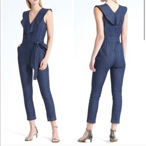 Banana republic denim jumpsuit
